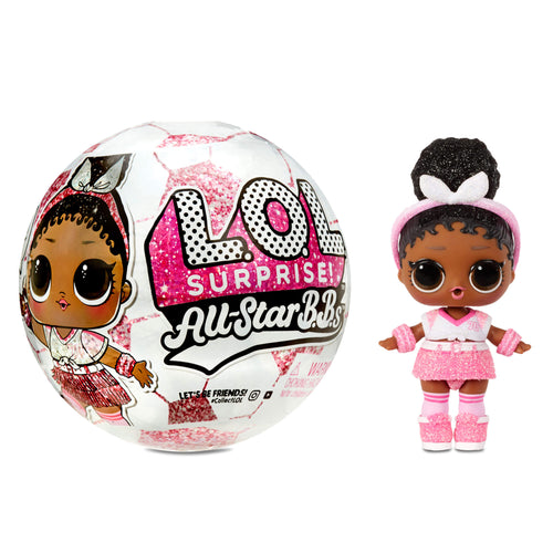 LOL Surprise All-Star B.B.s Sports Series 3 Soccer Team Sparkly Dolls with 8 Surprises