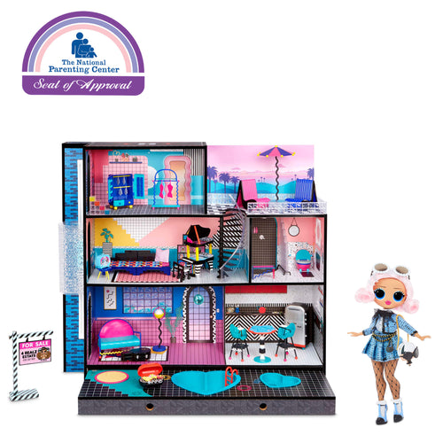 LOL Surprise Home Sweet Home with Doll - Wood Doll House with 85+ Surprises