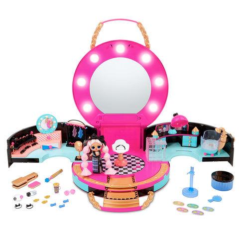 LOL Surprise Hair Salon Playset with 50 Surprises and Exclusive Mini Fashion Doll