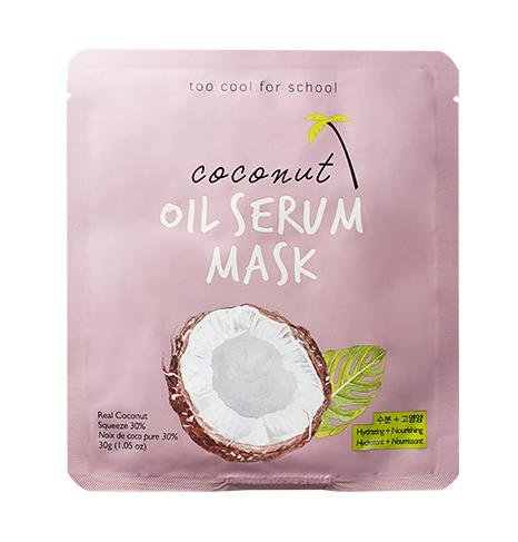 Health & Beauty > Personal Care > Cosmetics > Skin Care > Compressed Skin Care Mask Sheets - Coconut Oil Serum Mask Maska W Płachcie