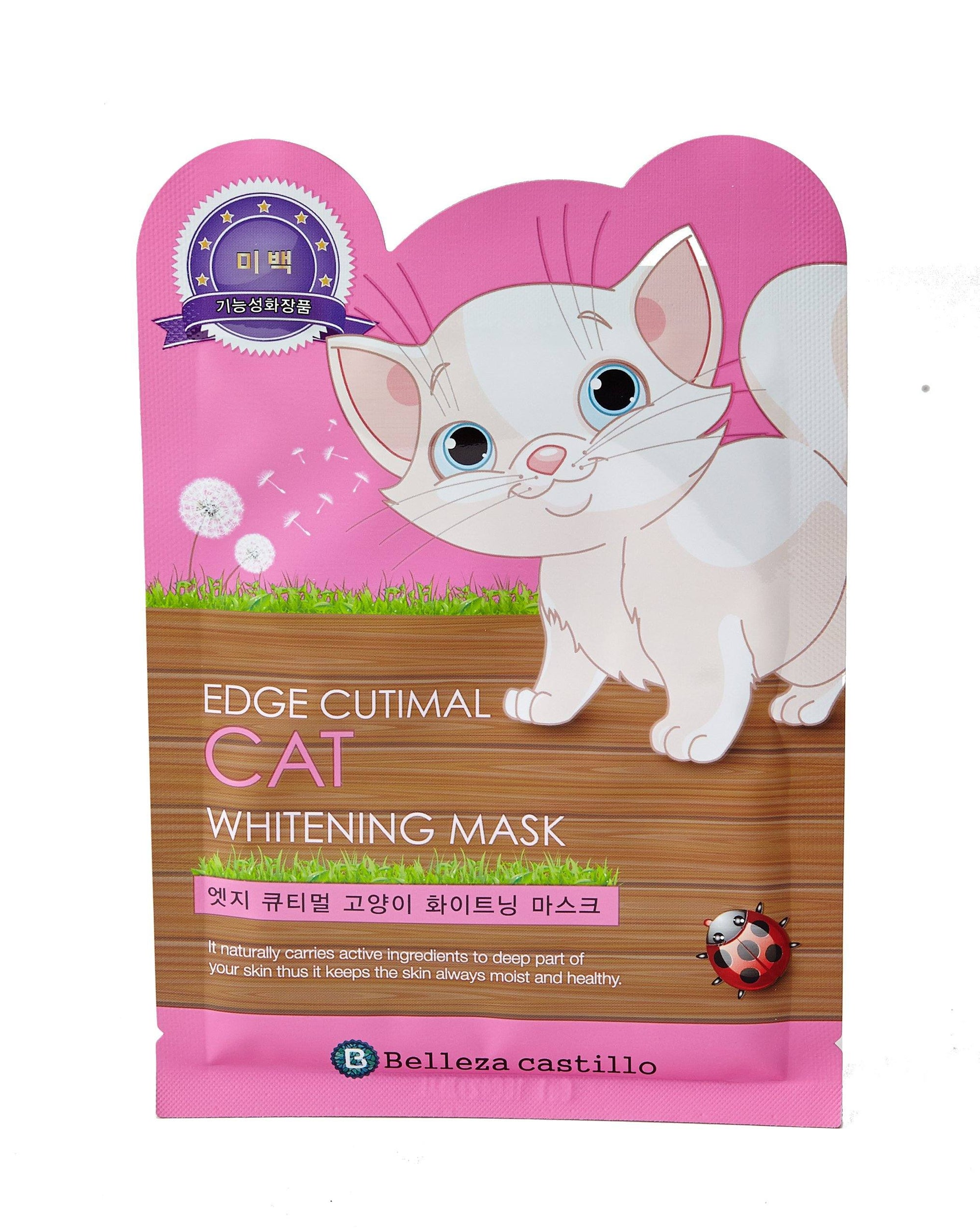 Health & Beauty > Personal Care > Cosmetics > Skin Care > Compressed Skin Care Mask Sheets - Edge Cutimal CAT Whitening Mask Maska W Płachcie
