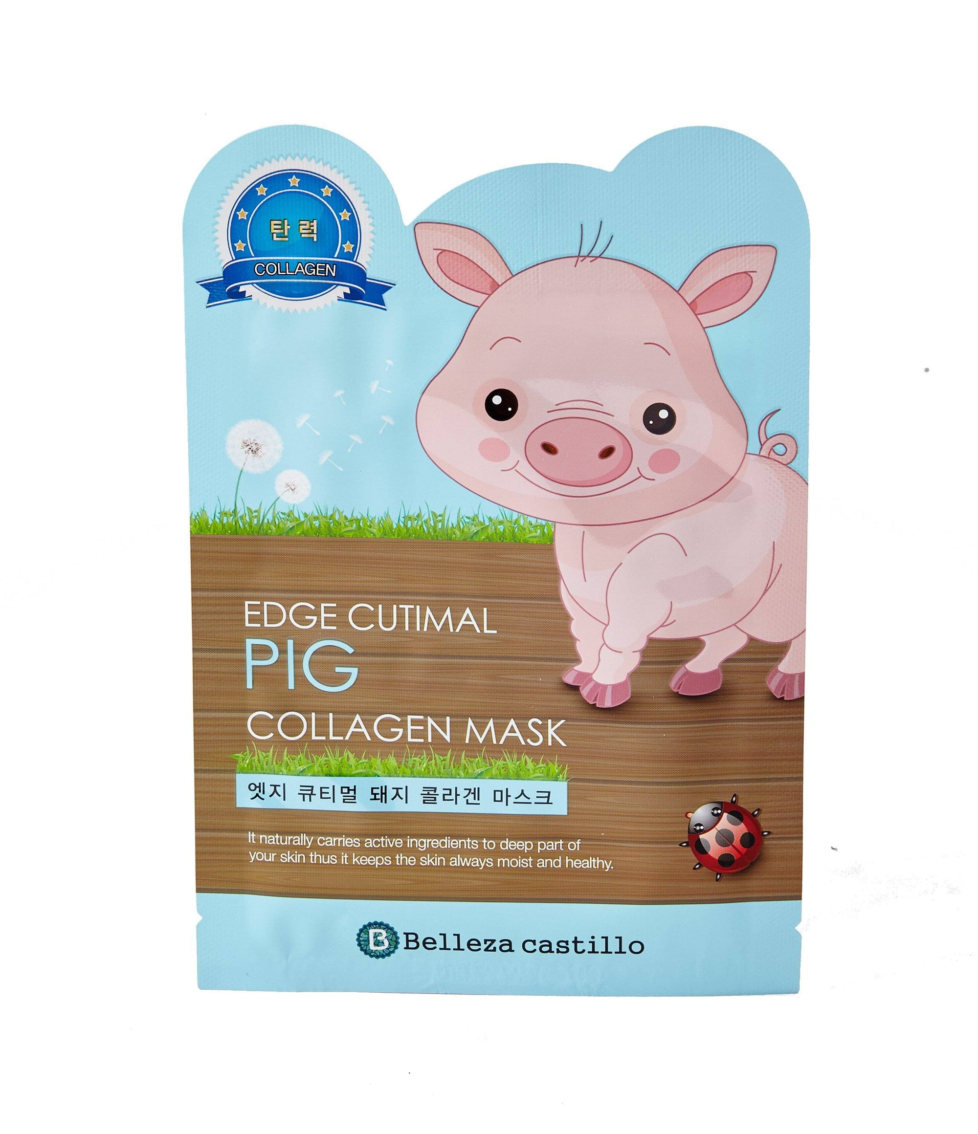 Health & Beauty > Personal Care > Cosmetics > Skin Care > Compressed Skin Care Mask Sheets - Edge Cutimal PIG Collagen Mask Maska W Płachcie