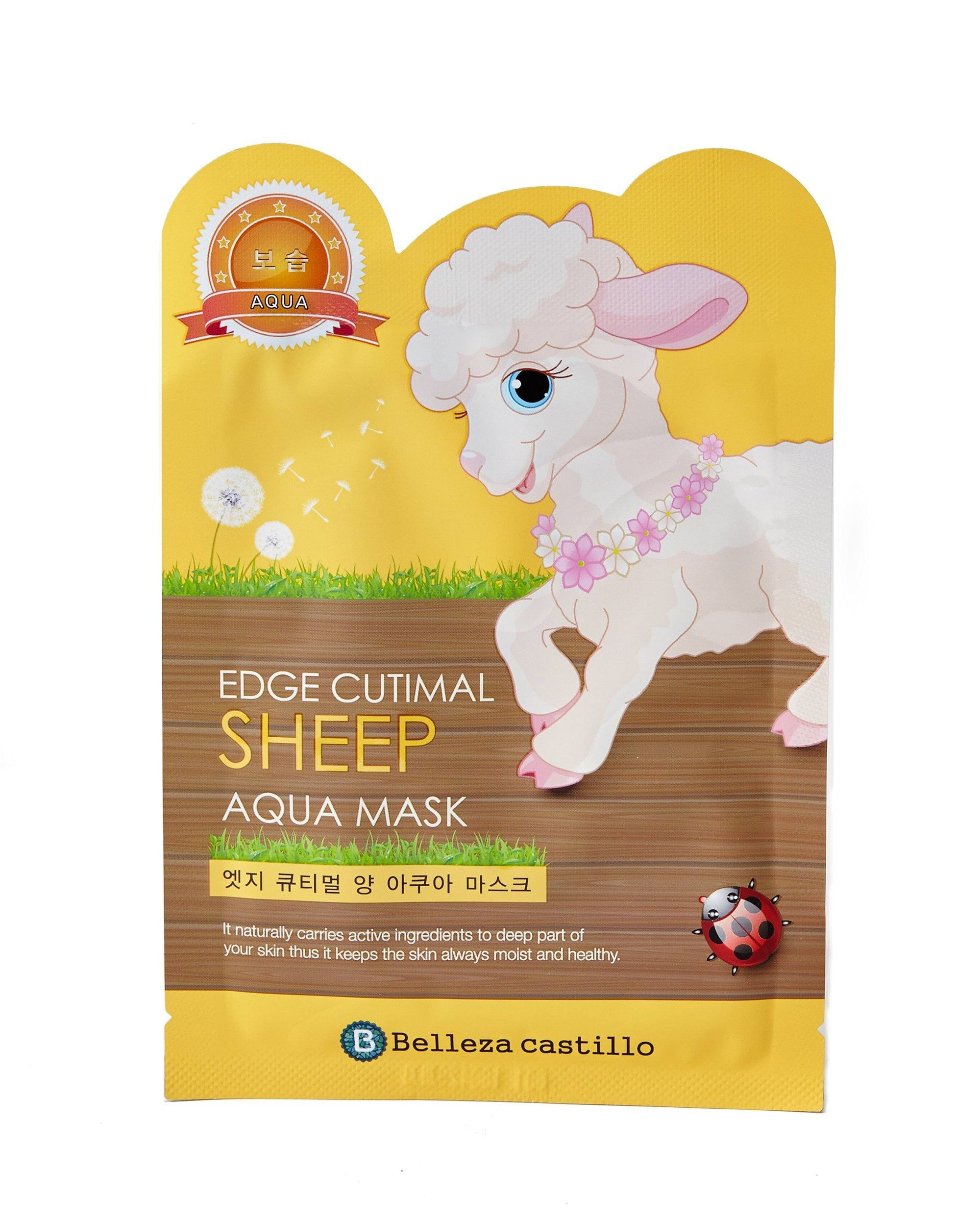 Health & Beauty > Personal Care > Cosmetics > Skin Care > Compressed Skin Care Mask Sheets - Edge Cutimal SHEEP Aqua Mask Maska W Płachcie