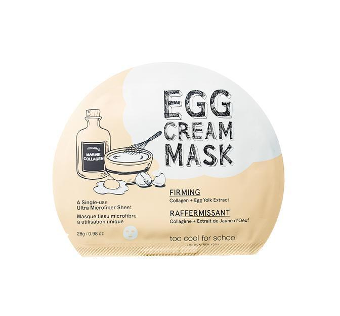 Health & Beauty > Personal Care > Cosmetics > Skin Care > Compressed Skin Care Mask Sheets - Egg Cream Mask Firming Maska W Płachcie