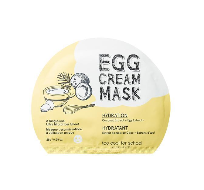 Health & Beauty > Personal Care > Cosmetics > Skin Care > Compressed Skin Care Mask Sheets - Egg Cream Mask Hydration Maska W Płachcie