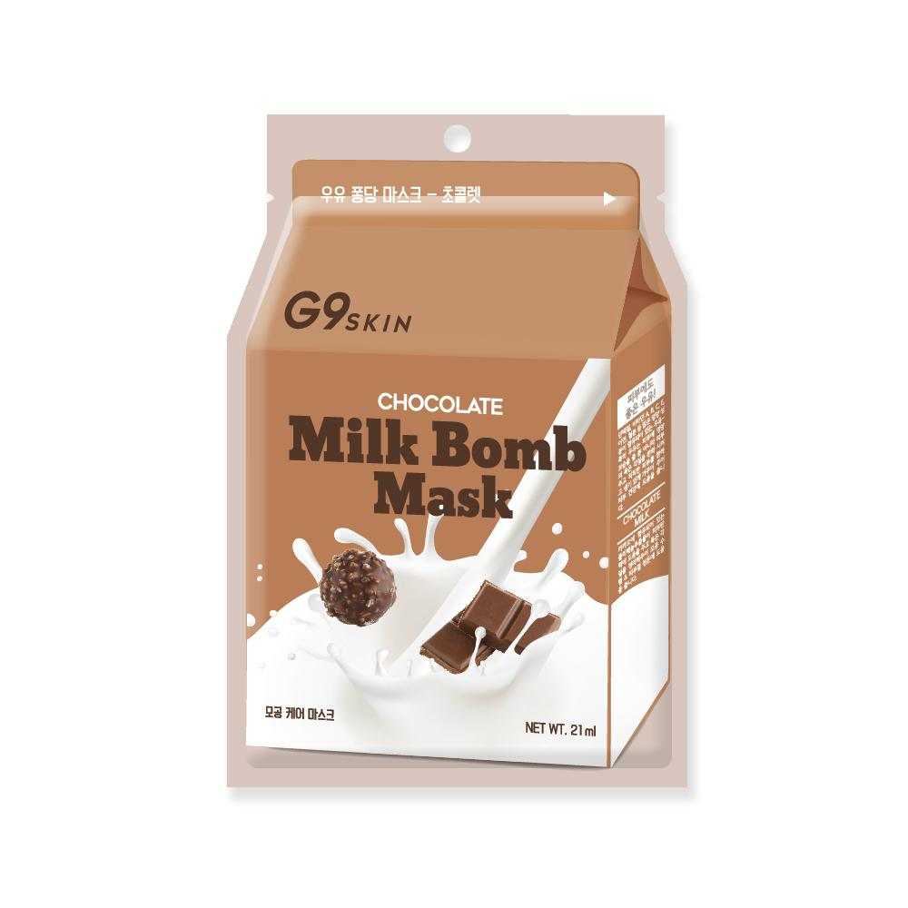 Health & Beauty > Personal Care > Cosmetics > Skin Care > Compressed Skin Care Mask Sheets - Milk Bomb Mask - Chocolate Maska W Płachcie