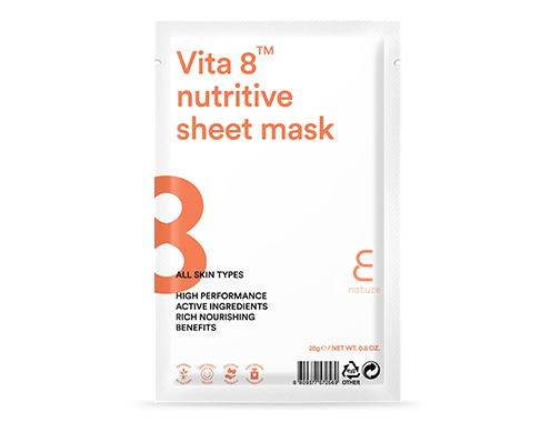 Health & Beauty > Personal Care > Cosmetics > Skin Care > Compressed Skin Care Mask Sheets - Vita 8 Nutritive Sheet Mask Maska W Płachcie