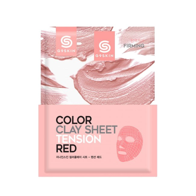 Health & Beauty > Personal Care > Cosmetics > Skin Care > Skin Care Masks & Peels - Color Clay Sheet - Tension Red Maska Do Twarzy