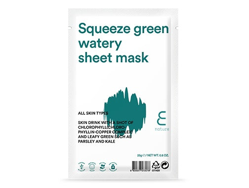 Health & Beauty > Personal Care > Cosmetics > Skin Care > Skin Care Masks & Peels - Squeeze Green Watery Sheet Mask Maska Do Twarzy