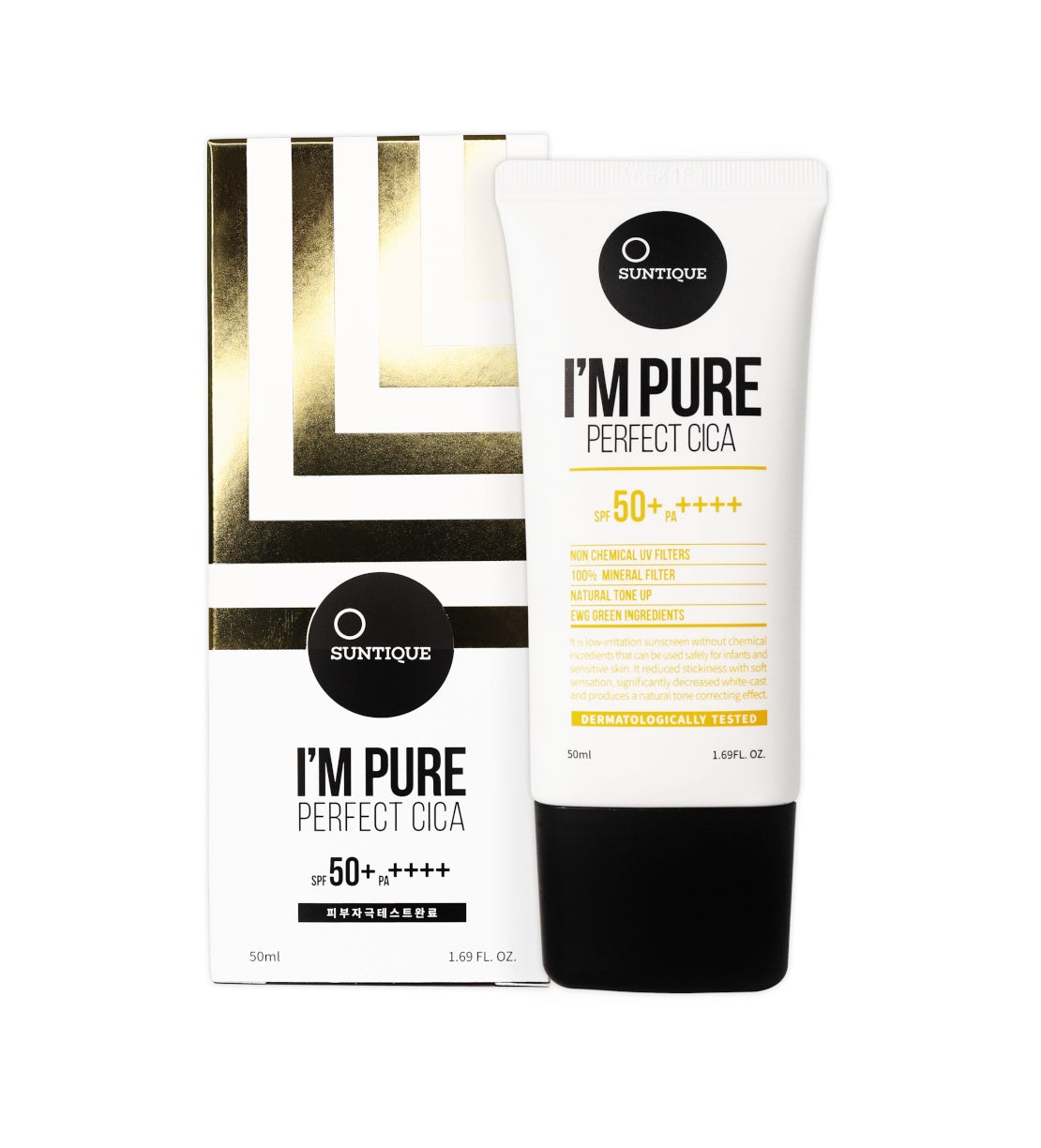 Health & Beauty > Personal Care > Cosmetics > Skin Care > Sunscreen - I'm Pure Perfect Cica SPF50+/PA++++ Krem Przeciwsłoneczny 50 Ml