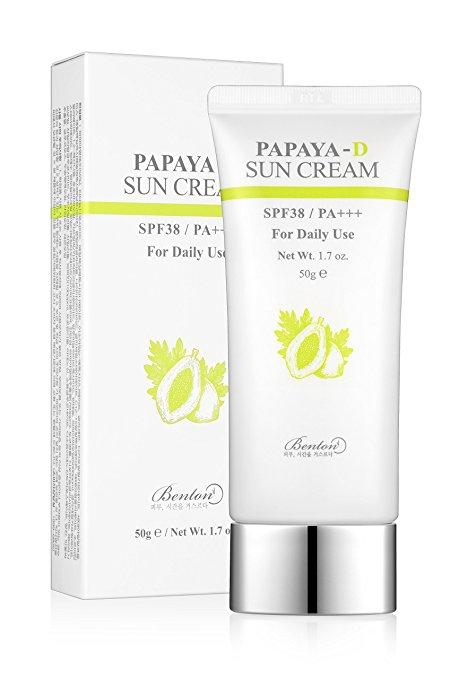 Health & Beauty > Personal Care > Cosmetics > Skin Care > Sunscreen - Papaya-D Sun Cream SPF38/PA+++ Krem Ochronny 50 G