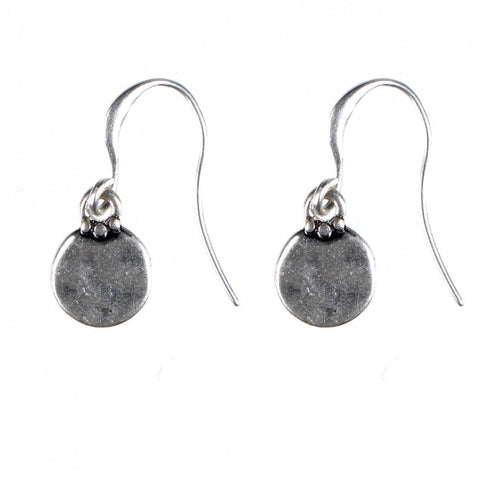 Hultquist Classic Small Disc Earring - Silver