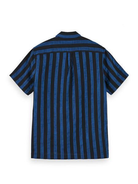 Scotch & Soda Striped Shirt - Blue/Black