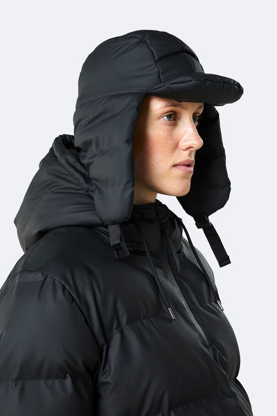 Rains Puffer Hat 2008 - Black