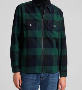 Lee Box Relaxed Fit  Overshirt -  Pine