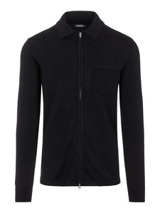 J.Lindeberg Nyle Zip Up Jacket - Black