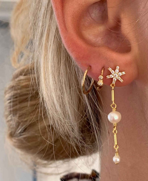 Hultquist Galaxy Earrings - Gold