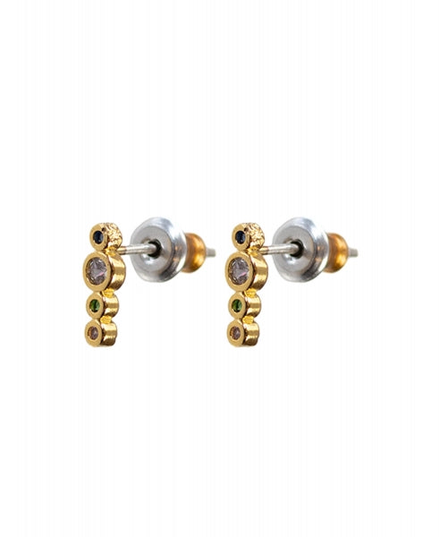 Hultquist Rainbow Earstick Earring - Gold