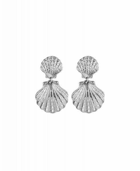 Hultquist Double Shell Earring - Silver