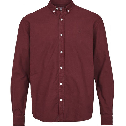 Kronstadt Johan Washed Oxford Shirt Bordeaux
