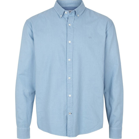 Kronstadt Johan Washed Oxford Shirt Light Blue