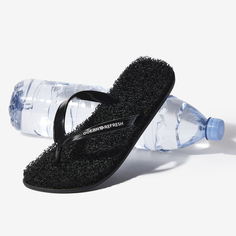 Ocean Refresh Flip Flops - Lava Black