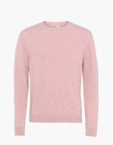 Merino Wool Crew Faded Pink
