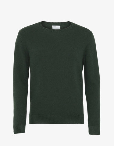 Merino Wool Crew Hunter Green