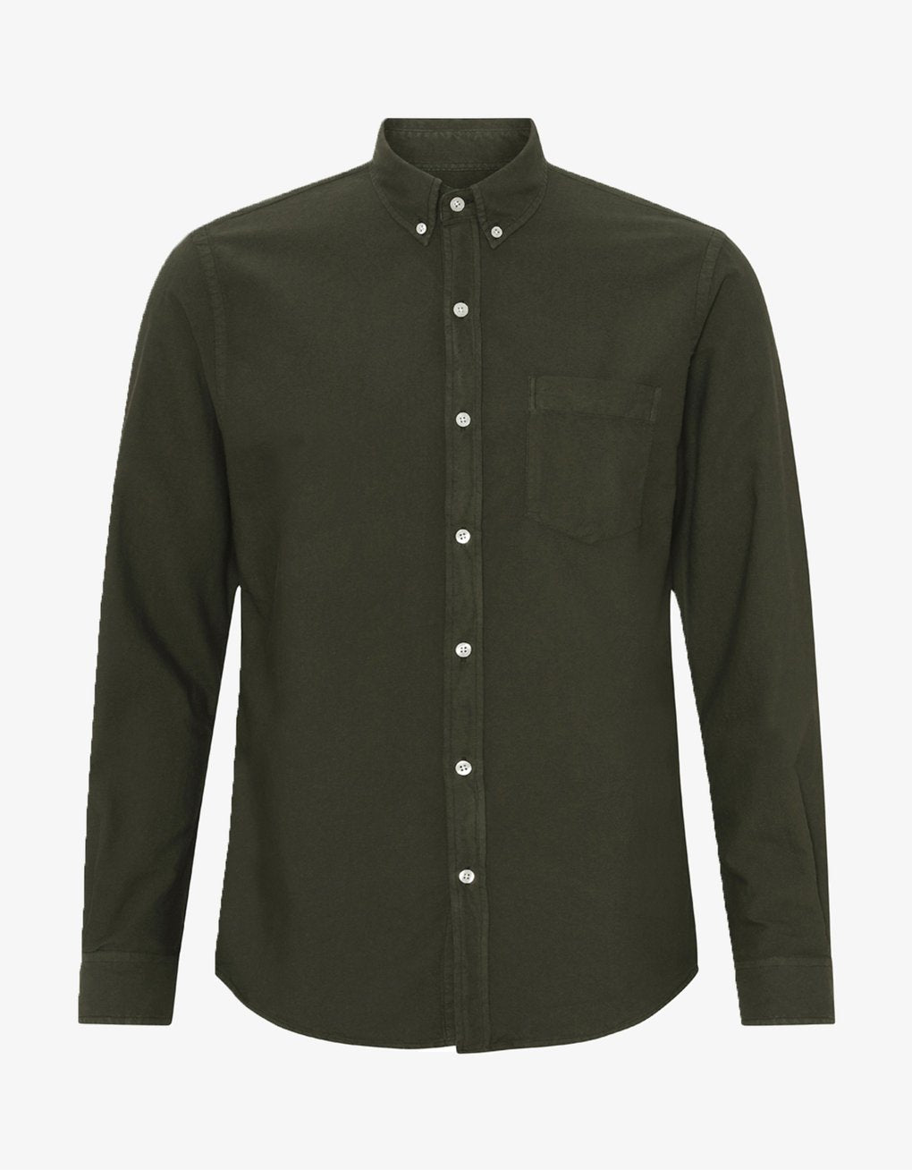 Colorful Standard Button Down Shirt - Hunter Green