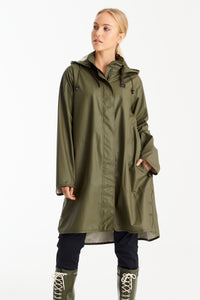 Ilse Jacobsen Waterproof Raincoat - Army