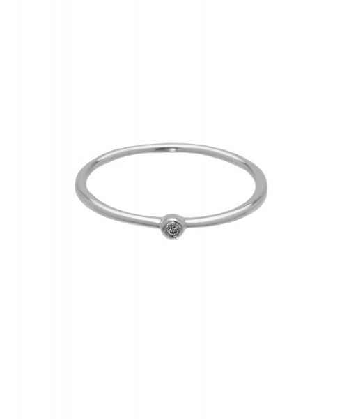 Hultquist Stone Ring - Silver