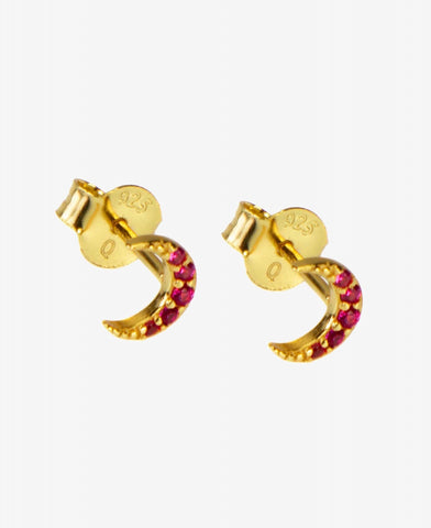 Hultquist Ruby Moon Earstud - Gold