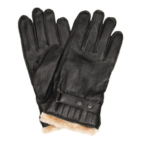 Barbour Leather Utility Gloves - Black