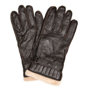 Barbour Leather Utility Gloves - Brown