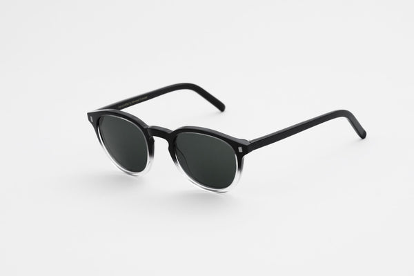 Nelson Black/Crystal ECO - solid green lens