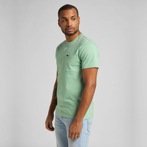 Lee S/S Pocket Tee - Granite Green