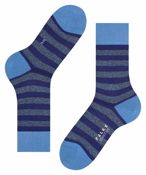 Falke Mens Sensitive Mapped Line Socks -Blue/Grey