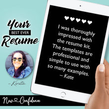 Load image into Gallery viewer, 1) Learn How to Write a Resume & Cover Letter That Will Get You Noticed! - A Step-by-Step Digital Guide & Templates! - New Confidence - Experienced Resume Writer & Coach