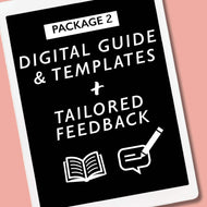 2) Digital Guide & Templates + Tailored Feedback on your Finished Documents. - New Confidence - Experienced Resume Writer & Coach