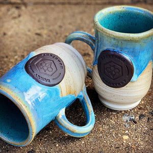 Handmade ceramic Honey Hill mugs