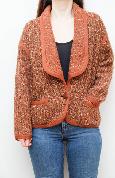 Vintage 70's Rustic Knitted Cardigan