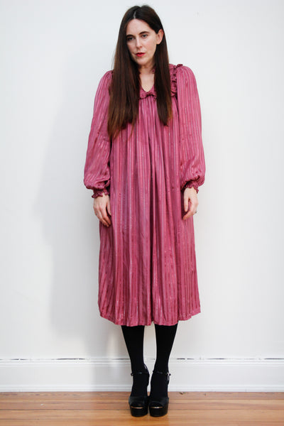 1970's Indian Lurex Smock Dress