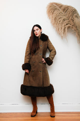 1970's Afghan Sheepskin Maxi Coat