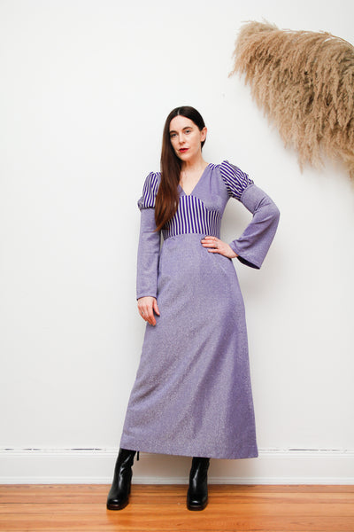 Vintage 70's Lurex Maxi dress