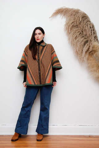 Vintage Windsmoor Knitted Wool Cape