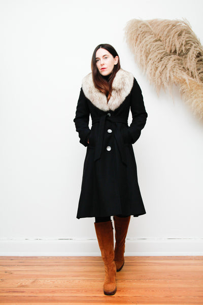 70' Wool Real Fur Trench Coat Princess Coat