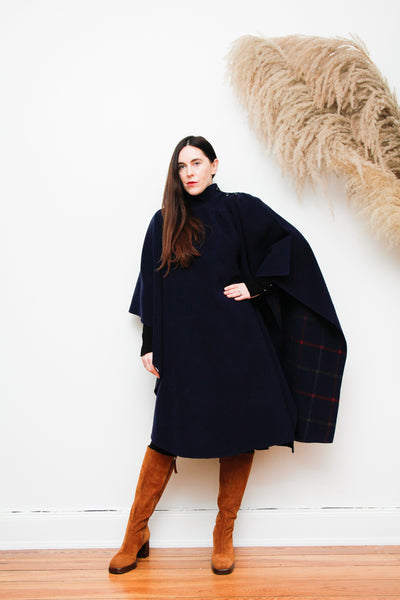 70's Wool Dramatic Cape