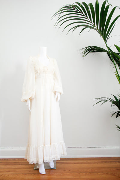 1970's Gunne Sax Cream Dress