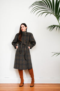 80's Wool Plaid Coat