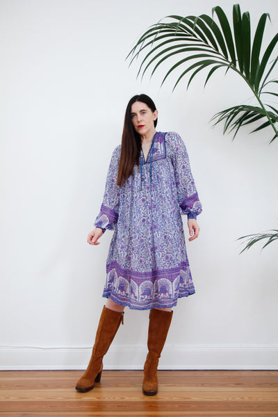 1970's Indian Cotton Gauze Smock Dress